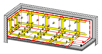 Расположение шпонок в подземной гидроизоляции