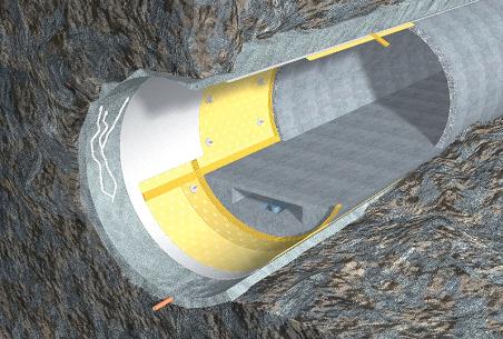 Замкнутая система подземной гидроизоляции